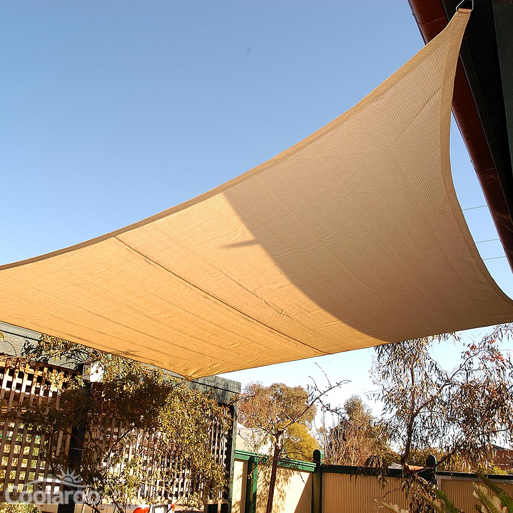 Handy shade sail rectangle 5x3m coolaroo for Shade sail cost