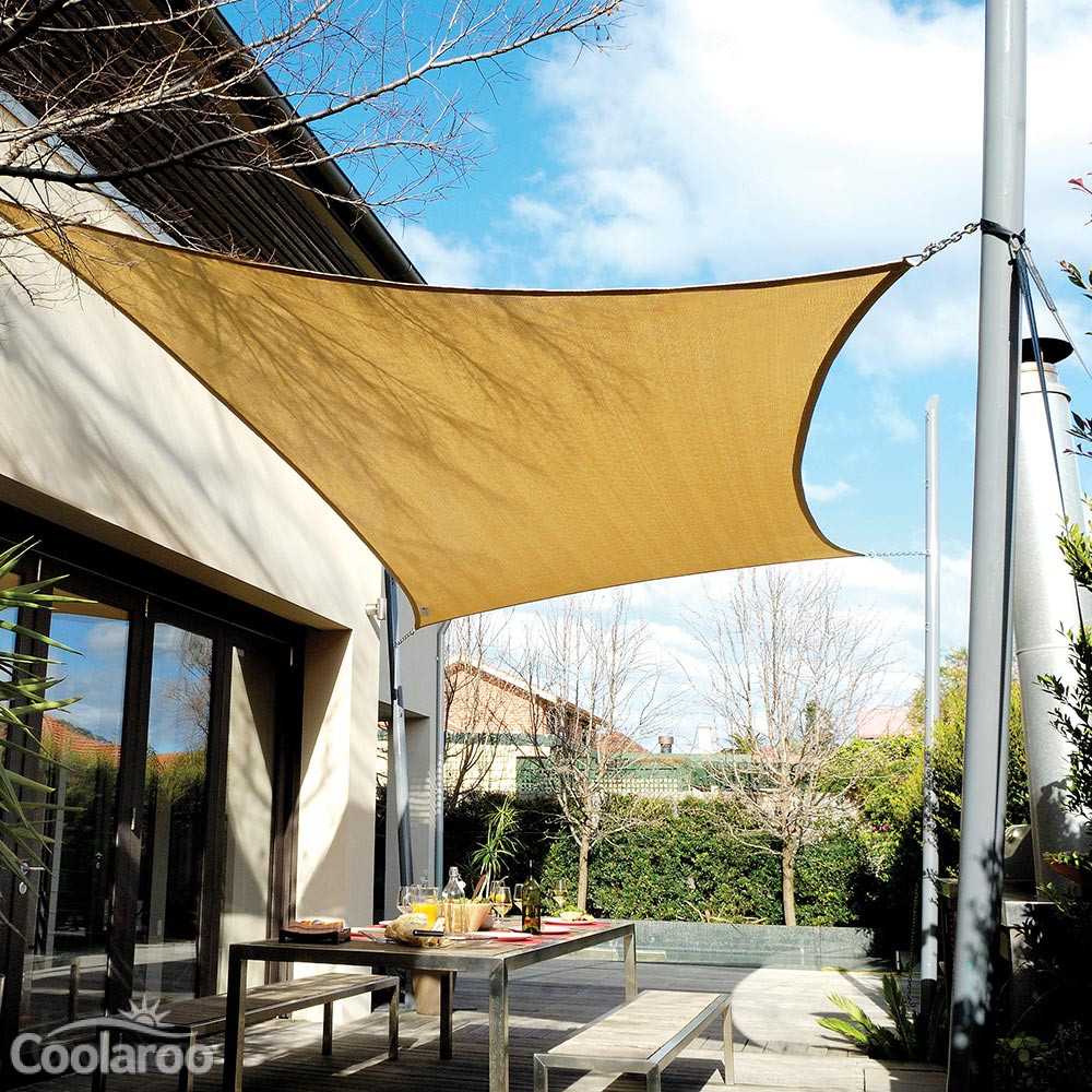 Extreme shade sail rectangle coolaroo for Shade sail cost